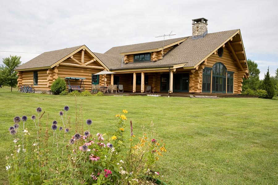 Log Home North Hero Vermont Vorse Construction